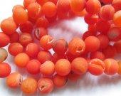 "Full strand 16"" Oranger Druzy Beads  Druzy Agate,gold silver gunmetalColors, rock crystal Beads for Jewelry Making, Gemstone Beads 8-16mm"