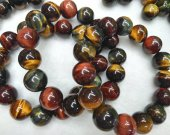 High quality 10\1214mm Blue Yellow Red Tiger Eye Gemstone  Hawk Eye Loose Beads  Blue  golden green Tiger eyes beaded Bracelet