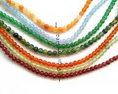 wholesale 5strands   Jade Beads - Round ball Colored beads 3-4mm, Semi Precious Gemstone Beads Golden Honey jade jewelry