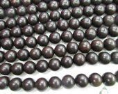AA grade Genuine Palmwood Bead, 6mm - 10mm, Round, Smooth, brown black red Natural Wood Beads, 16 Inch