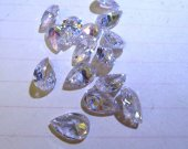 6-10mm 20pcs  Clear white Cubic Zirconia Beads, Jewelry Craft Supplies diamond teardrop drop faceted  CZ jewelry