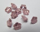 6mm 20pcs Pink red Cubic Zirconia Beads, Jewelry Craft Supplies fluorial flower petal multicolor CZ earrings