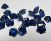 6mm 20pcs  Sapphire blue Cubic Zirconia Beads, Jewelry Craft Supplies fluorial flower petal rainbow CZ earings