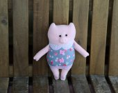 plush pink pig. Pig plush toy. Adorable stuffed animanl. Handmade pig. Piggy toy. Piglet toy. Pig softie. Plush piggy