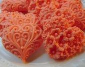 30 heart soap favors - heart bridal shower favors - heart birthday party favors - heart baptism favors - wedding favors - baby shower favors