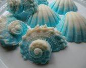 75 seashell soap favors - beach wedding favor - ocean baby shower favor - blue seashell favors - bridal shower favors - ocean party favors