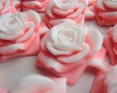 Rose bridal shower favors - 20 pink rose Soap - flower wedding favors - wedding decoration - unique wedding favors - rose wedding favors