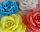 20 rose soap favors - garden bridal shower favors - garden wedding favors - rose baby shower favors - flower wedding favors - rose favors