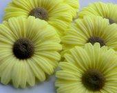 45 sunflower soap favors - sunflower wedding favors - garden baby shower favors - flower bridal shower favors - sunflower birthday favors
