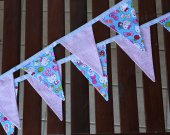 Special offer: fabric cotton baby garland. Bunting banner girl. Baby bunting. 9 flags fabric garland. Children room orn