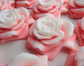 40 rose soap favors - rose bridal shower favors - flower wedding favors - rose baptism favors - garden birthday favors - rose shower favors