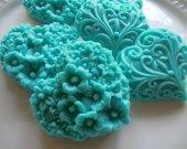 Wedding Favor - 50 Heart Soap -  turquoise baby shower favor, bridal shower favor