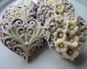 100 heart soap favors - bridal shower favors - quinceanera favors - birthday party favors - purple wedding favors - heart baby shower favors