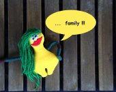 "Bright soft monster plush toy ""Wife"". Soft bright monster plushie THE FREAKISH collection. Yellow monster."