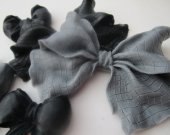 Bowtie Soap Set - gift for her, gray and black gift, hostess gift, gift for teen