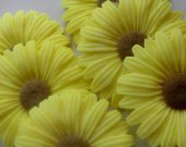 65 sunflower soap favors - garden wedding favors - sunflower bridal shower favors - flower baby shower favors - sunflower baptism favors