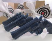 3 Gun Soap - gift for him, stocking stuffer for man - navy blue gun