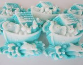 Animal baby shower favor - 45 Noah™s Ark Soap - baby boy shower favor, blue baby shower decor
