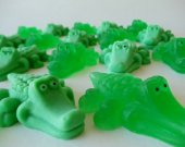 35 alligator soap favors - swamp baby shower favors - peter pan birthday favors - alligator kids party favors - alligator birthday favors