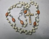 Rosary with wooden Crucifix and wooden beads