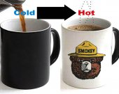 Smokey The Bear Color Changing Ceramic Coffee Mug CUP 11oz