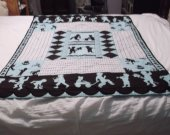Quilted boy silhouette baby boy blanket