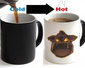 Lava Hound Color Changing Ceramic Coffee Mug CUP 11oz