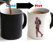 Deadpool Color Changing Ceramic Coffee Mug CUP 11oz