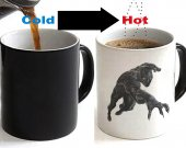 Black Panther Color Changing Ceramic Coffee Mug CUP 11oz