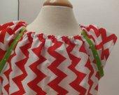 Red Chevron Dress size 3T