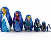 Matryoshka Matrioshka Russian Nesting Doll Babushka Frozen Elsa Elza Olaf Anna Set 7 Pieces