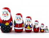 Matryoshka Russian Nesting Doll Babushka Santa Claus Gifts Set 7 Pc Matrioska Matrioshka Wooden Stacking