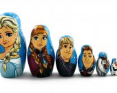Matryoshka Matrioshka Russian Nesting Doll Babushka Frozen Elsa Elza Olaf Anna Kristoff Hans Set 7 Pieces