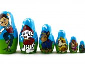Matryoshka PAW Patrol Cartoon Characters Russian Nesting Doll Babushka Set 7 Pc Matrioshka Wooden Toys Stacking