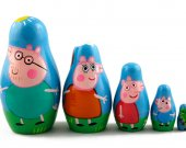 Matryoshka Matreshka Russian Nesting Doll Babushka Peppa Pig Set 5 Pieces