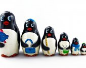 Matryoshka Matrioshka Russian Nesting Doll Babushka Pinguins Penguin Set 7 Pieces