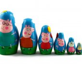 Matryoshka Matrioshka Russian Nesting Doll Babushka Peppa Pig Set 7 Pieces