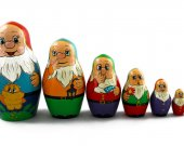 Matryoshka Matrioshka Russian Nesting Doll Babushka Dwarfs Gnomes Set 7 Pieces
