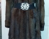 Mink coat brown