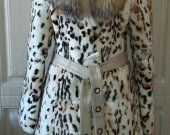 Fur coat from beaver and fox