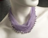 """necklace-scarf """"blooming lilacs"""""""