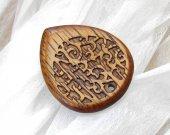 Wooden guitar pick with Urushi - japanese lacquer, Jatoba exotic wood plectrum