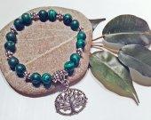 Tree of Life Bracelet-Natural Malachite-Handmade Beaded Bracelet