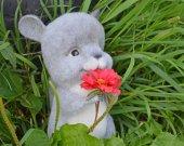 OOAK Needle felted chinchilla Poohly