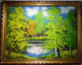 "The painting ""Birches"""