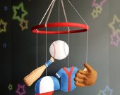 Baseball baby mobile Nursery mobile Baby crib mobile