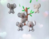 koala bear crib mobile nursery animal mobile new baby gift