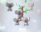 koala bear crib mobile nursery animal mobile new baby gift