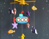 Under the sea mobile Baby boy mobile Baby girl mobile