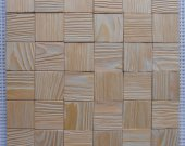 Wall panel. Unique wooden mosaic pattern 3D